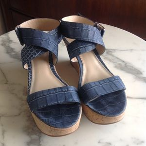 Via Spiga Strappy Cork Wedge Platform Sandal